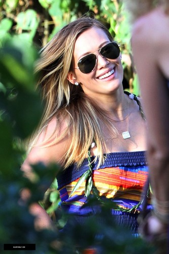 Hilary out in Miami