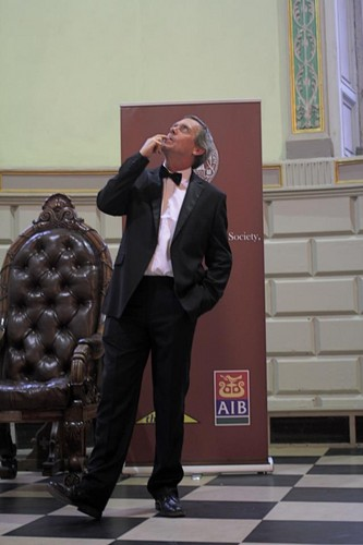 Hugh Laurie,in Trinity College Dublin,Sept 19,2012