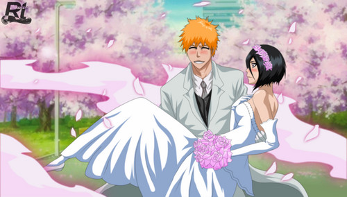 Bleach Ichigo And Rukia Wallpaper Possibly With A Bouquet Called ICHIGO RUKIA