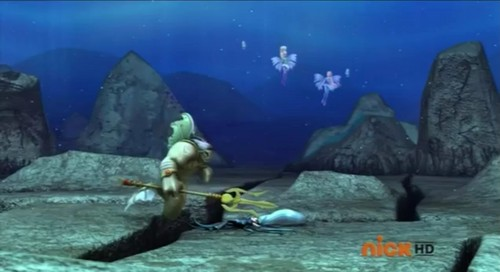 Winx Club fond d'écran possibly with a white baleine and a skin diver titled Icy's Sacrifice