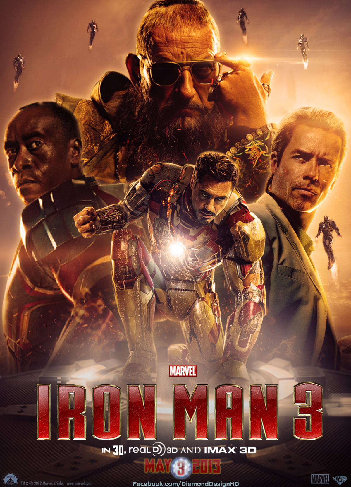 Iron man images iron man 3 fan made poster hd wallpaper for 3 by 3 prints
