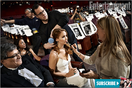 Jennifer at the Oscar Rehearsals