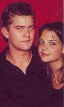 Joshua Jackson & Katie Holmes 바탕화면 with a portrait entitled Josh & Katie