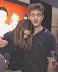 Joshua Jackson & Katie Holmes achtergrond probably containing a well dressed person and a portrait entitled Josh & Katie