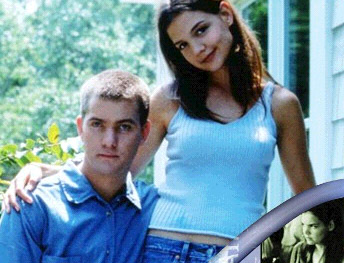 Joshua Jackson & Katie Holmes fond d'écran probably containing a haut, retour au début and a portrait titled Josh & Katie