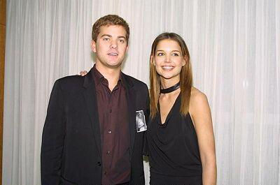 Joshua Jackson & Katie Holmes achtergrond containing a well dressed person titled Josh & Katie