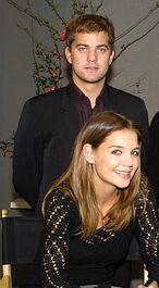 Joshua Jackson & Katie Holmes achtergrond possibly with a business suit and a portrait called Josh & Katie