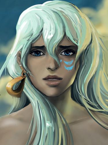 Atlantis: The Lost Empire fond d'écran titled Kida