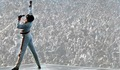 King Freddie on stage - freddie-mercury photo