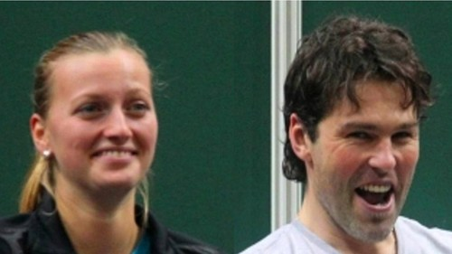 Kvitova Jagr faces