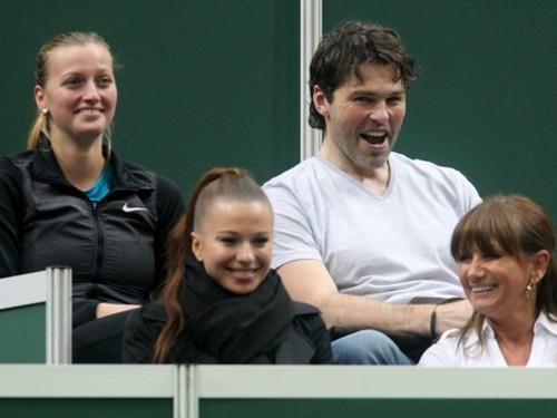 Kvitova Jagr funny