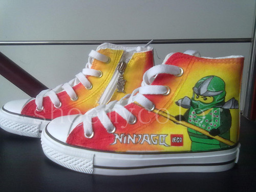 LEGO ninjago custom kids shoes