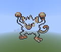 Mankey outline - minecraft-pixel-art photo