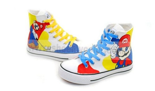 Mario cartoon kids shoes
