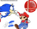 Mario vs Sonic Brawler - mario-and-sonic fan art