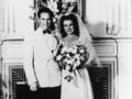 Marylin And First Husband, Jim Daughterty On Their Wedding Day Back In 1942 - marilyn-monroe photo