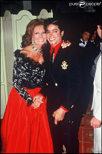 Michael And Legeandary Film Actress, Sophia Loren