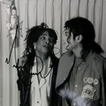Michael And Siedah Garrett In The Recording Studio - michael-jackson photo