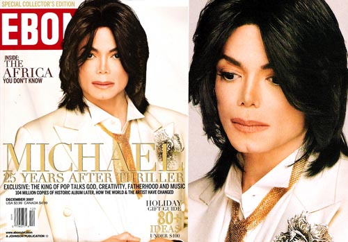 "Michael On The 2007 December Issue Of ""EBONY"" Magazine"