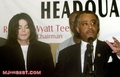 Micheael And Longtime Friend, Reverend Al Sharpton - michael-jackson photo