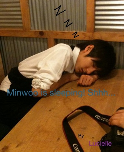 Boyfriend wallpaper titled Minwoo sleeping