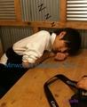 Minwoo sleeping