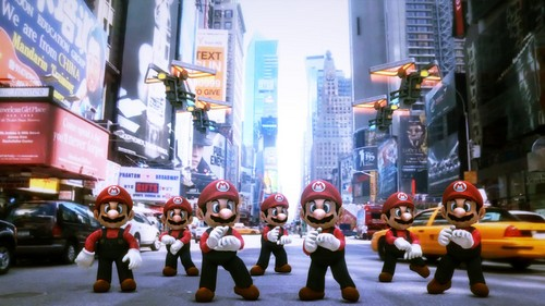 Mr. Mario with Gangnam style dance
