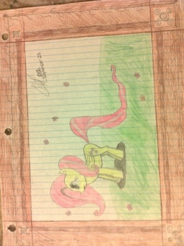 My Fluttershy drawing from 7th grade