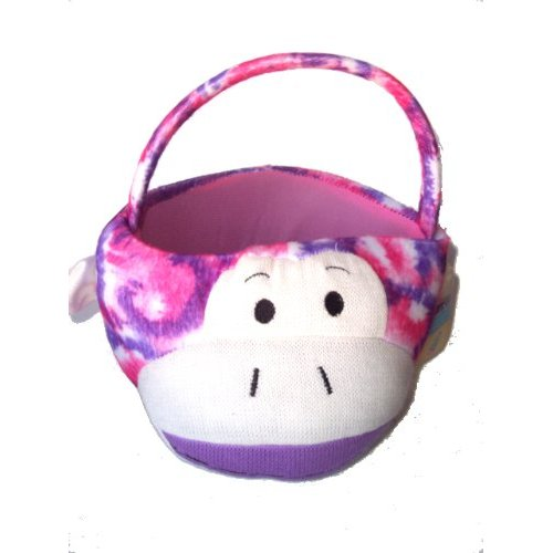 My chaussette Monkey Easter Basket