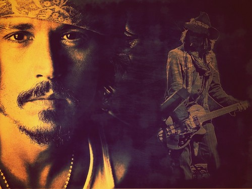 Johnny Depp wallpaper probably containing a guitarist, a concert, and anime entitled My new wallpaper