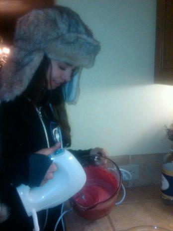 Nina is cooking xD
