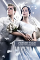 Official Catching 火災, 火 Poster- Katniss and Peeta [HQ]