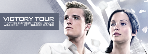 Official Catching আগুন Poster- Katniss and Peeta
