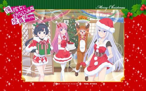 OreShura Weihnachten Hintergrund