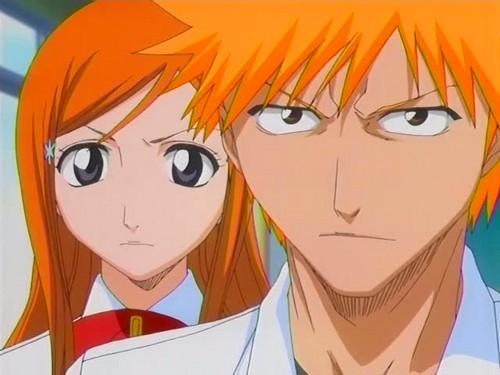 Orihime and Ichigo <3