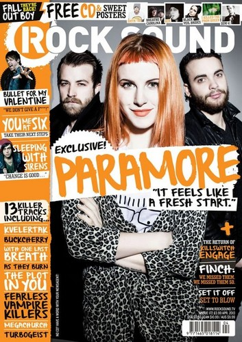 Paramore on the cover of the new issue of Rock Sound