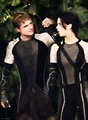Peeta & Katniss-Catching moto