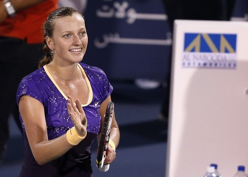 tennis wallpaper possibly containing a sign titled Petra Kvitova Dubai 2013..