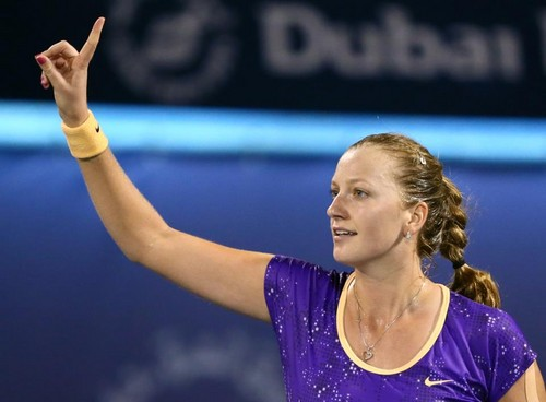 tennis wallpaper containing a tennis player and a tennis pro entitled Petra Kvitova Dubai 2013..