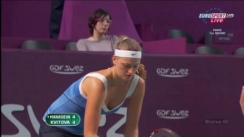Petra Kvitova top breast.