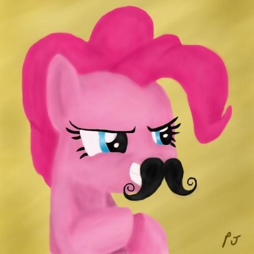 Pinkie's Mustache