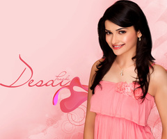 Bollywood wallpaper possibly containing a cocktail dress, a nightwear, and a cena dress titled Prachi Desai