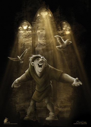 Childhood Animated Movie Heroes wallpaper probably with a breastplate called Quasimodo