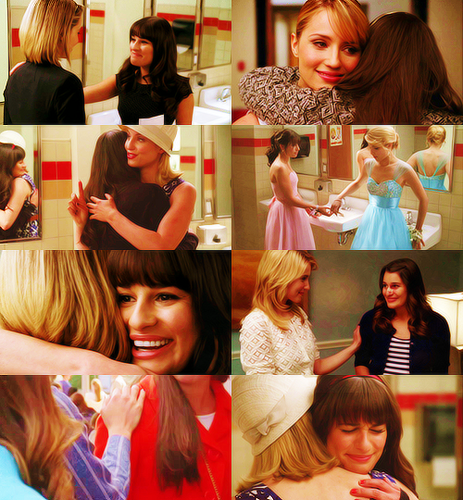 glee images rachel amp quinn wallpaper and background photos