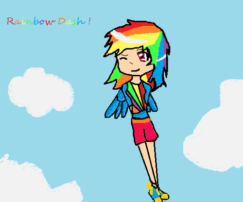 humanized my little pony wallpaper possibly containing anime entitled Rainbow dash