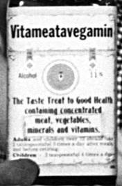 Rare Shot of the Original Bottle of Vitameatavegamin