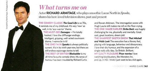 Richard Armitage Interview