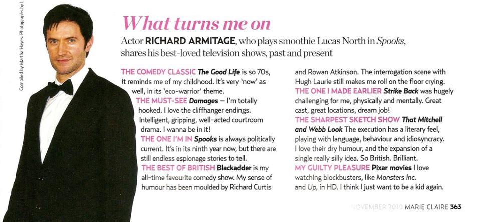 Richard Armitage Interview