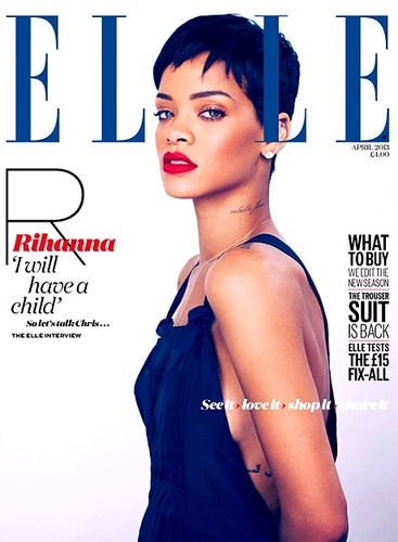Rihanna's ELLE UK April covers