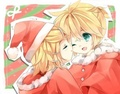 Rin & Len Christmas time! - vocaloids photo